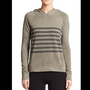 Olive Green Sundry Hoodie with Stripes